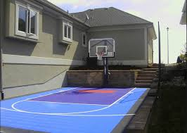 Top Features Of A Home Basketball Court Sport Court - Home basketball court design