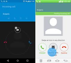 message android how to decline incoming calls with messages using response
