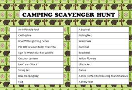 Backyard Scavenger Hunt Ideas Triyae Com U003d Backyard Camping Checklist Various Design