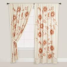 Curtains World Market Embroidered Floral Cotton Curtains Set Of 2 World Market