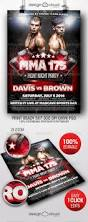 mma fight night party flyer template by design cloud graphicriver