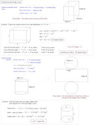 Area Of A Parallelogram Worksheet Math Plane Lateral And Surface Area