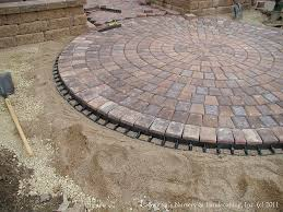 Brock Paver Base Installation by Paver Patio Front Entry Interlocking Paver Edge Restraint