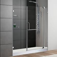 Shower Doors Handles Shower Bathroom Spiffy Frameless Glass Shower Doors For Acrylic