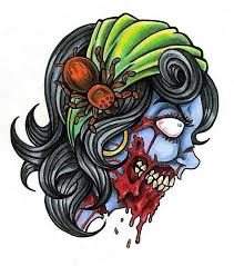 zombie tattoo sketch with spider best tattoo designs