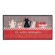 tapis cuisine original tapis de cuisine bonne compagnie gris motif