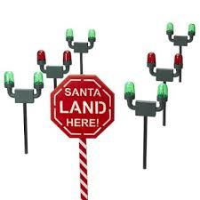 santa land here lighted sign christmas holographic display christmas yard decorations