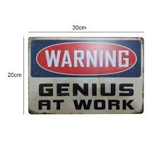 warning metal tin signs signage home decor wall art painting