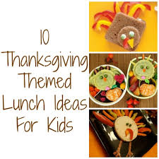 thanksgiving themed lunches for