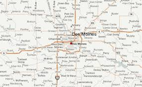 map of iowa towns des moines location guide