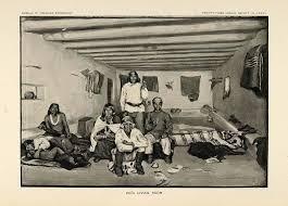 home interior prints 1904 print zuni pueblo indian house home interior room original