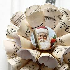 sheet music christmas ornament diy the cottage market