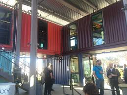 shipping container bar in austin tx commerical land development
