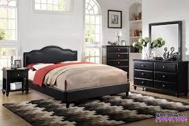 f9294 brown faux leather platform 4 piece bedroom set poundex f9294 brown faux leather platform 4 piece bedroom set