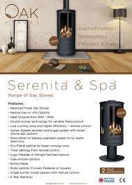 log gas stove from oak stoves