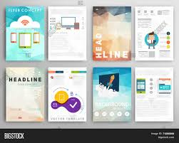 e brochure design templates set flyer brochure design vector photo bigstock