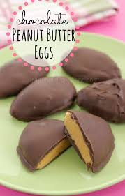 chocolate covered eggs covered peanut butter eggs