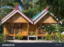 tropical beach house island koh chang stock photo 106080548