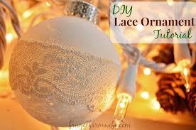 diy rustic lace ornament tutorial the frugal farm