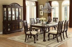 8 pc dining room set weatherford rustic casual 6 piece dining table and chairs set with