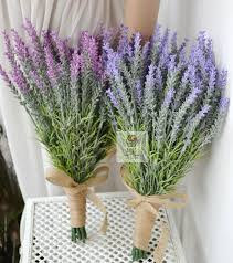wedding flowers lavender high quality handmade holding flowers artificial