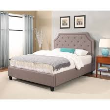 Studded Bed Frame Abbyson Studded Upholsterd Platform Bed Free Shipping
