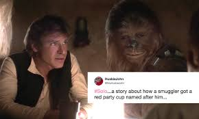 Red Solo Cup Meme - the han solo spin off title is a meme waiting to happen twitter