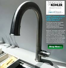 touch free faucets kitchen amazing kitchen sink fossett white kitchen sink faucet lowes