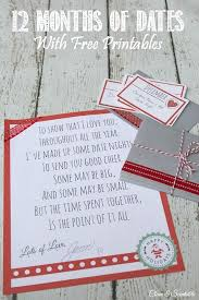 Great Christmas Gifts For Him - 12 months of dates christmas gift ideas closest friends