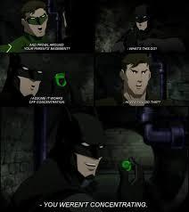 Batman Green Lantern Meme - justice league war batman pwns green lantern marvel and dc