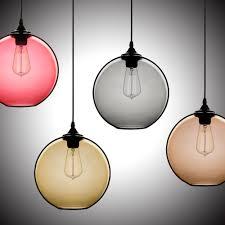 hand blown glass light globes modern minimalist glass single light globe pendant pendant lights
