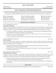 Sample Resume Objectives Retail by Resume Sales Consultant Resume