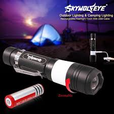 Camping Led Strip Lights by Skywolfeye 6 Modes Xm L T6 500lm Tactical 2 Led Torch Zoomable Led
