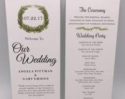 cheap printed wedding programs wedding programs etsy