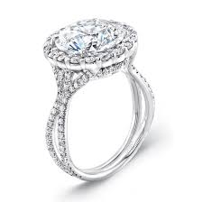 5 carat engagement ring uneek 5 carat diamond halo platinum engagement ring