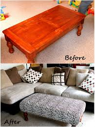 How To Make An Ottoman Out Of A Coffee Table Diy Ottoman Might Be Great To Pad Our Coffee Table To Protect Out