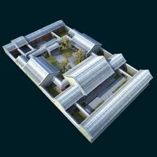 chinese quadrangle 3d model cgstudio
