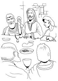 Catholic Last Supper Coloring Page School Pin By On Thaypiniphone Last Supper Coloring Page