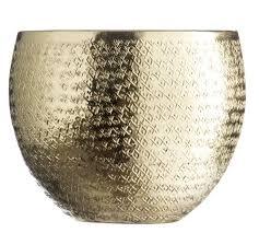 Orientalische Esszimmer Blumenübertopf V Madam Stoltz Metall übertopf Gold Rund