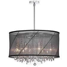 drum light chandelier drum shade chandelier