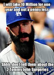 Dodgers Suck Meme - brian wilson agrees to one year 10 million contract with the