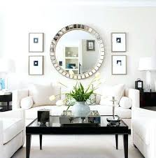 Large Mirrored Wall Clock Wall Mirror Large Framed Bathroom Wall Mirrors Large Silver