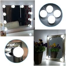 4 led lights mirror circle b right make up vanity mirror lights kit hollywood style led