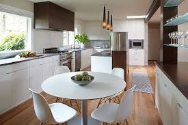 Mid Level Kitchen Cabinets mid century trilevel remodel kitchen modern with barstool