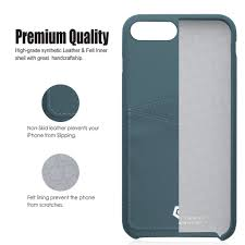 grayish blue leather textured back cover for iphone 7 plus 8