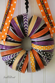halloween mason jar crafts halloween washi tape and mason jar rings wreath tgif this