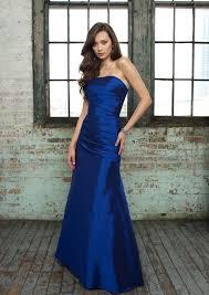 blue wedding dress designer a line taffeta strapless waist floor length sleeveless