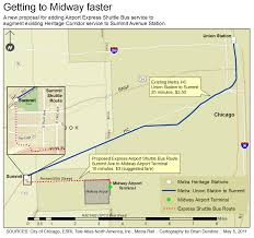 Metra Train Map Chicago by Proposals For Faster Access To Chicago U0027s Midway Airport Public