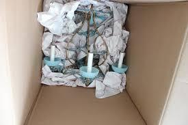 Opaline Chandelier Maison Decor Blue Opaline Karma