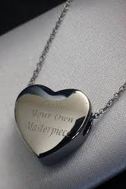 engraved heart necklace 365 personalised gifts home engraved jewellery personalised